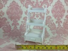 Dollhouse Miniature Home Furniture White Wood 3 Tier Drawer Shelf Stand 1:12