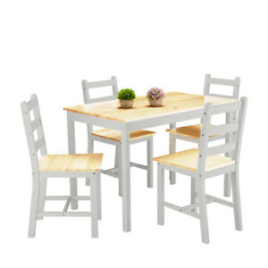Panana Wooden Dining Table 2 Chairs or 4 Chairs Set  Kitchen Dining Furniture