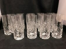 "PINWHEEL CRYSTAL DRINKING GLASS  6"" X 2.5"" - 6 AVAILABLE  $25.00 EACH"