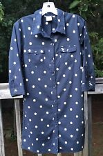 Vintage Abercrombie And Fitch New York Shirt Dress Size Small S Button Down