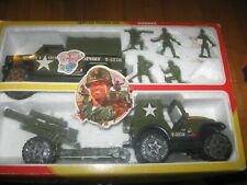 BUDDY L SPECIAL FORCES SET BUDDYL ARMY TRANSPORT TRUCK JEEP ARTILLERY SOLDIERS