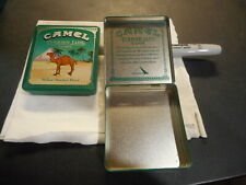 Used Vintage Camel Turkish Jade Lights Cigarettes Metal Tin Container (see pic)
