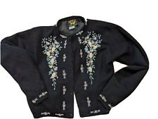 New listing Vintage black Embroidered & Beaded Cardigan. Fully Lined lambswool Size M