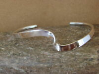 Native American Jewelry Hand Made Sterling Silver Bracelet