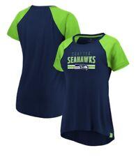 NFL Seattle Seahawks Women's Raglan V Neck Tee T-shirt Mesh Sleeves Size M NWT