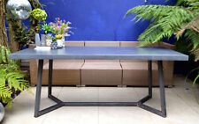 Concrete Dining Table with Industrial Steel Frame