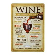 GOOD WINE Retro Poster Metal Tin Sign Plaque Man Cave Bar Cafe Wall Decor
