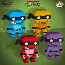 NEW! FUNKO POP 8-Bit Set of 4 NEON Teenage Mutant Ninja Turtles Shop EXCLUSIVE!