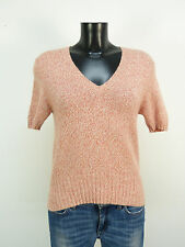 Eric bompard suéter talla M/rojo jaspeadas & Cashmere-seda-Mix (m 0555)