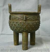 Encensoir de 7,6 po en bronze chinois de la dynastie des bêtes, encensoir