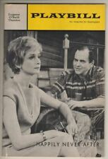 """Barbara Barrie   """"Happily Never After""""   Playbill  1966   OPENING NIGHT  FLOP"""