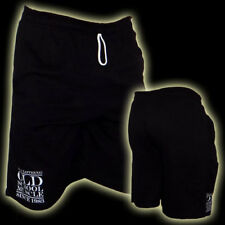 Explosive Fibres Black OLD SCHOOL MUSCLE Gym/Workout Shorts: Medium