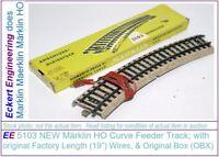 "EE 5103 New Märklin HO Curve Feeder Track with 0.5m (19"") wire"