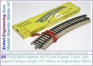 "EE 5103 New Märklin HO Curve Feeder Track with 0.5m (19"") Factory length wires"