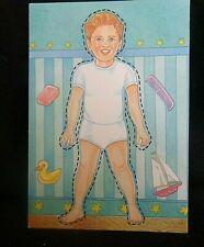 "Paper Doll Happy Birthday Greeting Card ""Little Boy"" Uncut 1990 Portal Co."