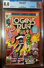 LOGAN'S RUN #6 1ST THANOS SOLO STORY BY MIKE ZECK OFF TO WHITE PAGES CGC 8.0