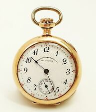 19J 14K Gold Waltham Riverside RR Maximus Bailey Banks Philadelphia Pocket Watch