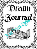 NEW Dream Journal Divider Wicca Book of Shadows Parchment Pagan Spells