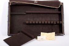 GORHAM Vintage Silverware Flatware Case Chest Leather Wood