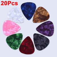 20x Pack Thin Celluloid Guitar Picks Plectrums For Electric Acoustic and Bass UK