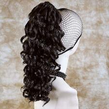 Wiwigs Lovely Dark Brown Irish Dance Curly Ponytail Claw Clip Hairpiece