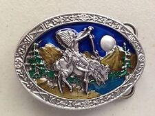New Indian Chief On Horse Belt Buckle Spirit
