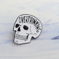 OVERTHINKING Punk Creative Skull Enamel Brooch Lapel Denim Jacket Pin Badge