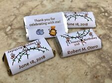 72 JUNGLE SAFARI Kid Birthday Personalized wrappers HERSHEY MINIATURES FAVORS