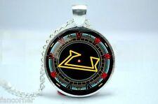 Stargate pendentif porte des etoiles collier chevron Stargate gate pendant