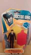 DOCTOR WHO THE TENTH DOCTOR IN A BLUE SUIT - WAVE 3 FIGURES WITH A STAND - NEW