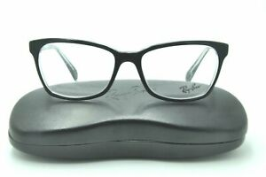 Ray Ban RB 5362 Eyeglasses 2034 Black on Clear Frames 54mm + Case NEW!