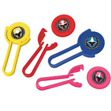 POWER RANGERS Ninja Steel DISC SHOOTERS (12) ~ Birthday Party Supplies Favors
