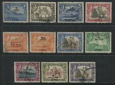 Aden 1951 KGVI overprinted complete set to 10 shillings used