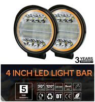 2x 4Inch 300W Round LED Working Light Spot Driving Lamps Headlight Offroad Truck