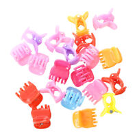 20 Colorful Assorted Mini Small Plastic Hair Clips Claws Clamps O9X3 Y4F6