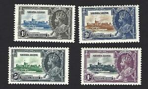 SIERRA LEONE 1935 GEORGE V SILVER JUBILEE SET OF4 STAMPS, SG. 181-184, £35+, MH