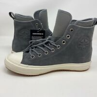 Converse Mens Chuck Taylor Nubuck Boot Skate Shoes Gray 157459C High Top 8 New