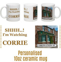 Coronation Street corrie 10oz ceramic personalised mug Birthday Gift Idea