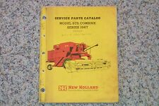 New Holland 975 Combine Parts Manual NICE LOOK