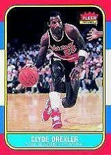 1986 Fleer Clyde Drexler #26 Basketball Card