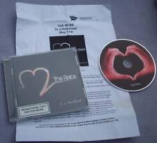 THE REBS In A Heartbeat PROMO CD ALBUM + FLYER Southampton Indie BRITPOP