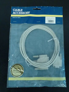 Cable Accessory  50206 6 FT MLD Modern Cable DB9F-DB25M, 9W