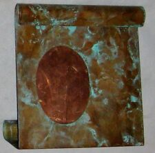 """Natural Copper Oval Frame Inset into 6 1/4"""" Copper Free Standing Metal"""