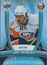 (HCW) 2009-10 UD Trilogy JOEL RECHLICZ Rookie 353/799 Upper Deck RC NHL 00987