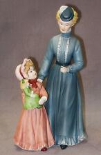 "Homco Home Interior Porcelain Figurine ""A Sunday Stroll� Lady & Daughter #8812"
