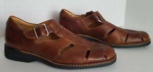 Johnston Murphy Genuine Leather Fisherman Sandals Shoes Brown Men's 10.5