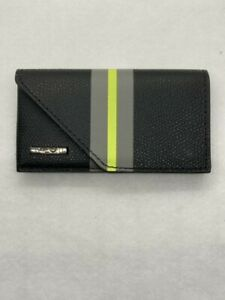 Tumi Black Hinged Card Case - Province Collection, New with Tag and Box