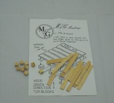 MG Mouldings model detail parts - one set of 1/24 - 1/25 real wooden pallet