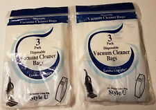 "6pcs Disposable VACUUM BAGS Style ""U"" for EUREKA UPRIGHT Vacuum. - NEW"