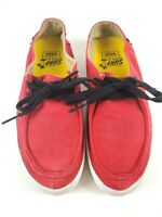 Vans Mens Surf Siders Rata Vulc Red Sneaker Shoes Lace Up Size 7.5